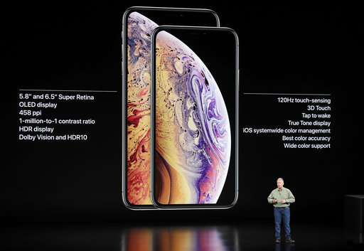 The Latest: Apple ups ante on larger iPhone screens
