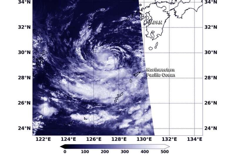 NASA satellite finds Jongdari a Tropical Depression