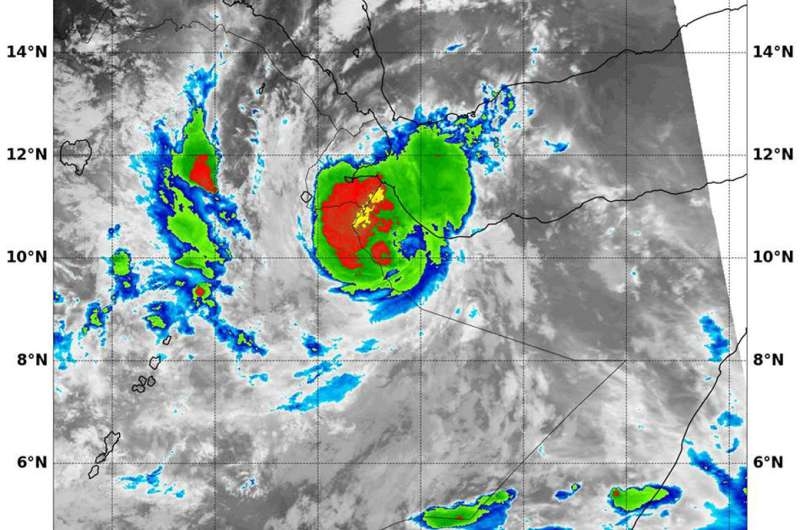 NASA sees Tropical Cyclone Sagar's landfall