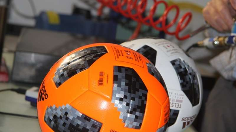 Researchers test FIFA World Cup game balls in the laboratory