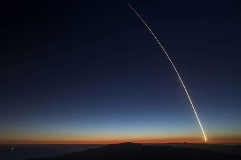 A SpaceX Falcon 9 launches two satellites in October 2018