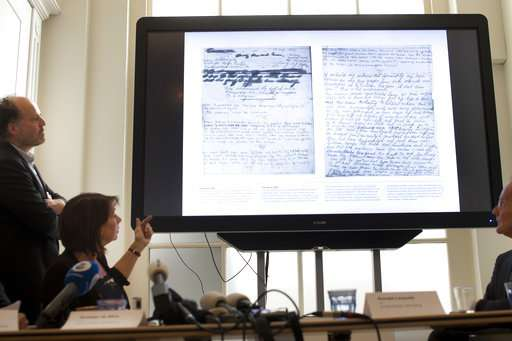 Dutch researchers read 2 covered pages of Anne Frank diary