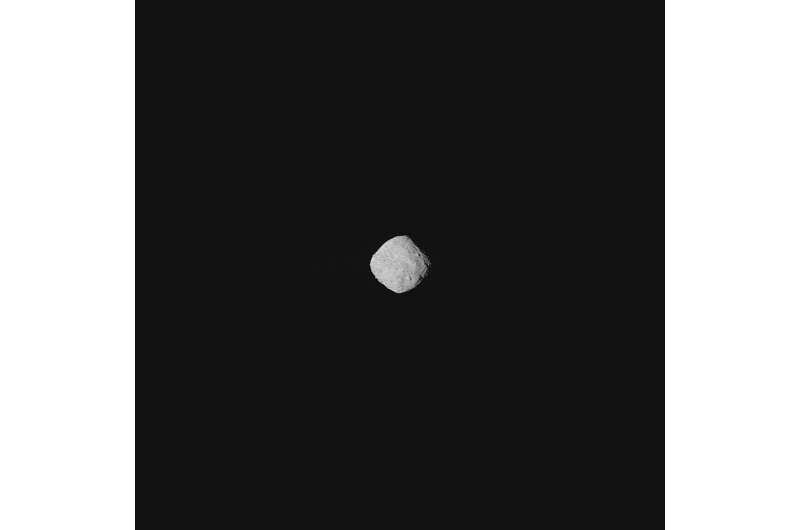 First images of asteroid Bennu obtained by the NASA OSIRIS-REx spacecraft