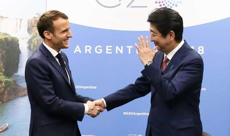 French President Macron Japanese PM Abe have called for maintaining the stability of the Renault-Nissan-Mitsubishi alliance