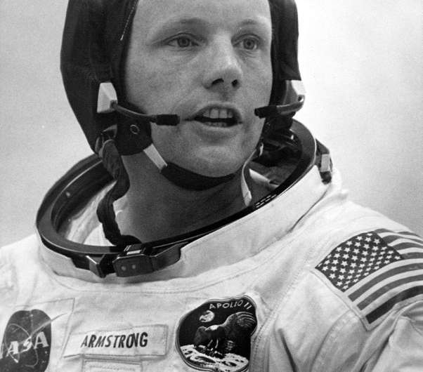 In this file photo taken on July 16, 1969, Armstrong as Apollo 11 commander prepares to board the Saturn V space vehicle for the