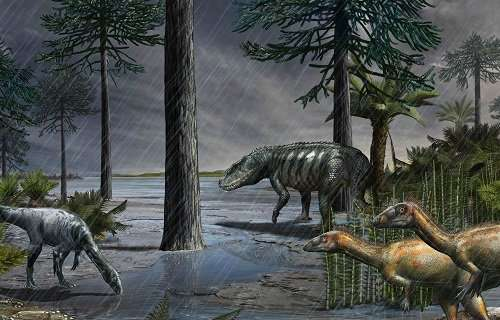 Mass extinction crisis triggered expansion of dinosaurs