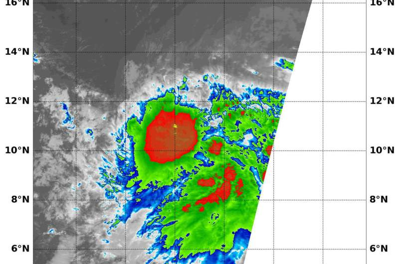 NASA catches tropical depression 9E at peak before dissipation