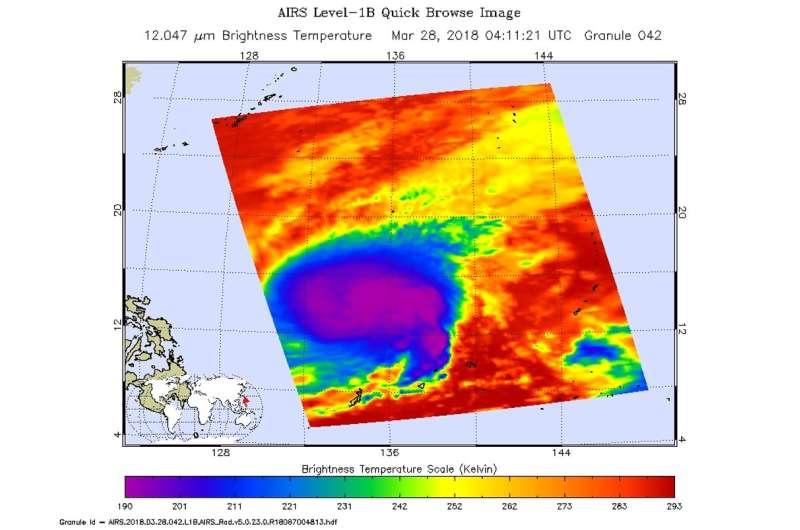 NASA finds Tropical Storm Jelawat strengthening