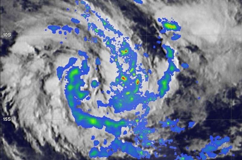 NASA's GPM observes Tropical Cyclone Eliakim forming near Madagascar