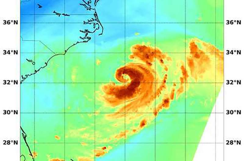 Tropical Storm Chris gives NASA satellite a signature 'C'