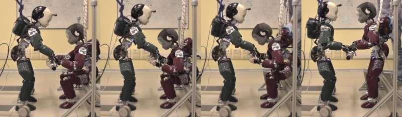 **Working towards partner-aware humanoid robot control
