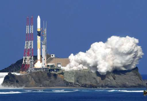 Rocket carrying 1st UAE-made satellite launched from Japan