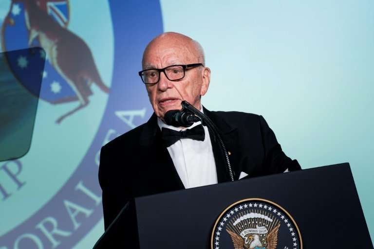Rupert Murdoch, seen in a 2017 photo, shares the title of executive chairman with his son Lachlan at the newspaper conglomerate