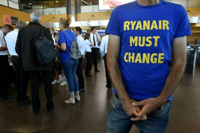 Ryanair pilots, including these based in Belgium, in August staged their first simultaneous strike across Europe in a battle for