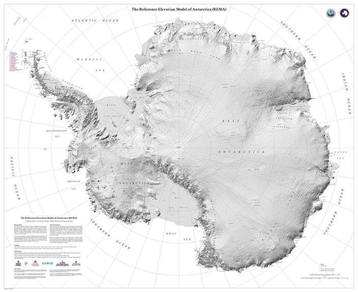 Researchers release the most accurate map of Antarctica terrain