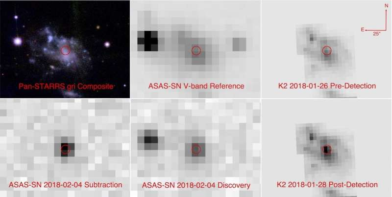 Newly discovered supernova may rewrite exploding star origin theories