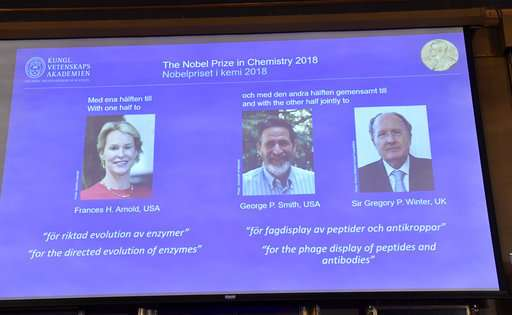 Chemistry Nobel for using evolution to create new proteins