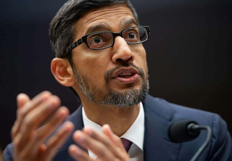 "Google CEO Sundar Pichai, testifying at a House Judiciary Committee hearing, said there is no ""political bias"" in its"