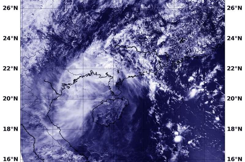 NASA-NOAA satellite finds Barijat crossing Gulf of Tonkin