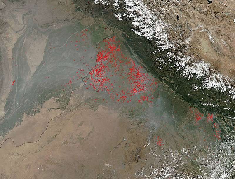 Agricultural fires can double Delhi pollution during peak burning season