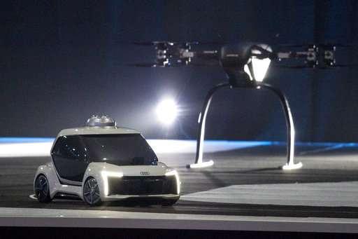 Hailing the future taxi: Drone-car mashup model takes flight