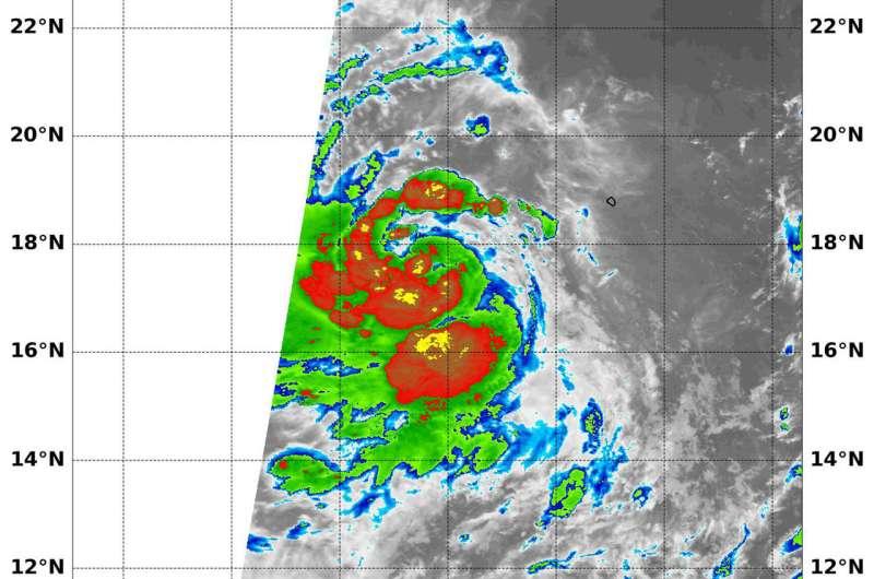 NASA examines intensifying Tropical Storm Norman