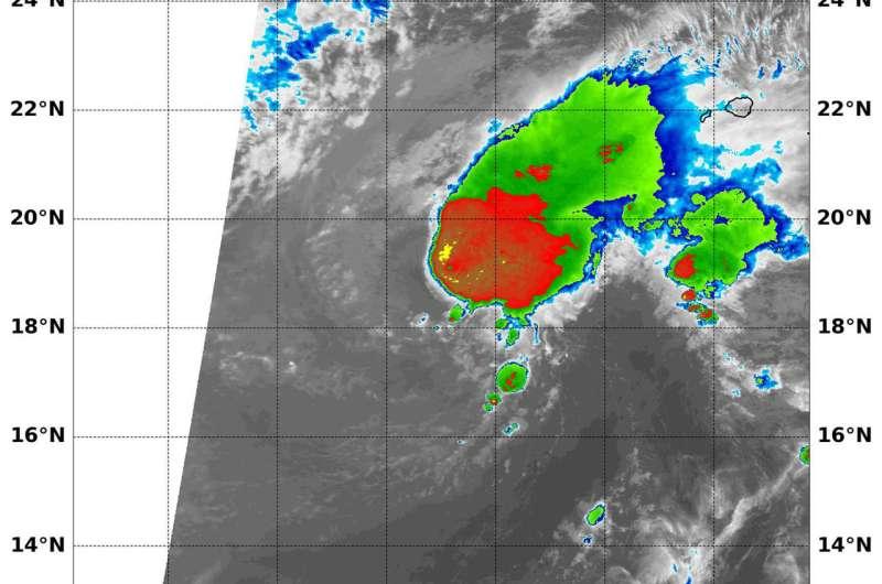 NASA finds wind shear slamming Tropical Cyclone Lane