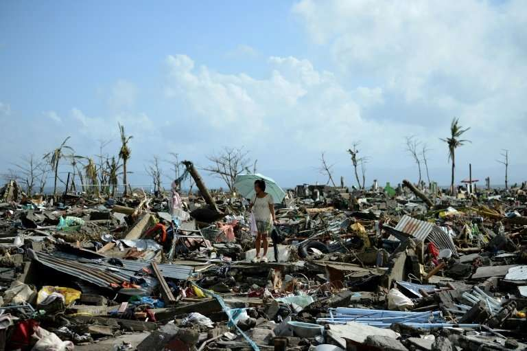 Super Typhoon Haiyan was the country's most powerful storm on record, with gusts exceeding 305 kilometres (190 miles) per hour a