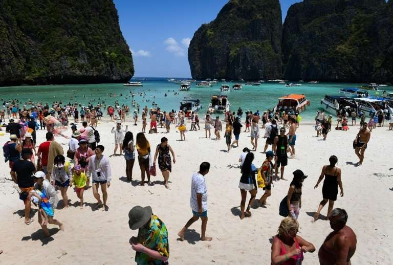 Thousands of tourists descended on Thailand's Maya Bay daily before the ban
