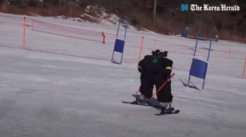 See those skiing contenders? They are robots (and never mind the falling)