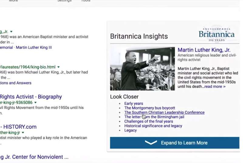 Britannica Insights will help searchers cut through noise for good answers