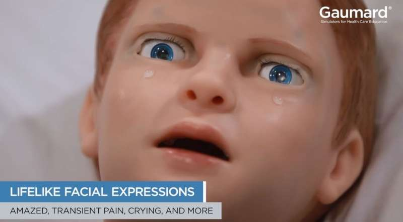 Pediatric robot patient offers new level of realism for doctors in training
