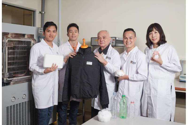 Researchers turn plastic bottle waste into ultralight supermaterial with wide-ranging applications