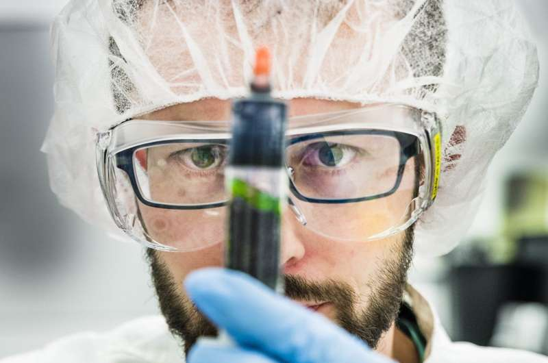 Living electrodes with bacteria and organic electronics
