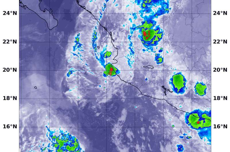 NASA catches the scattered remains of former Tropical Storm Tara