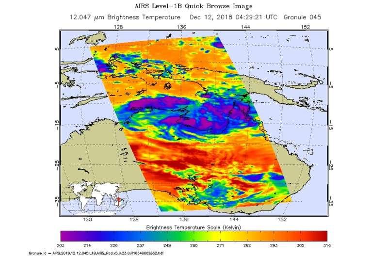 NASA examines reborn Tropical Cyclone Owen's temperatures