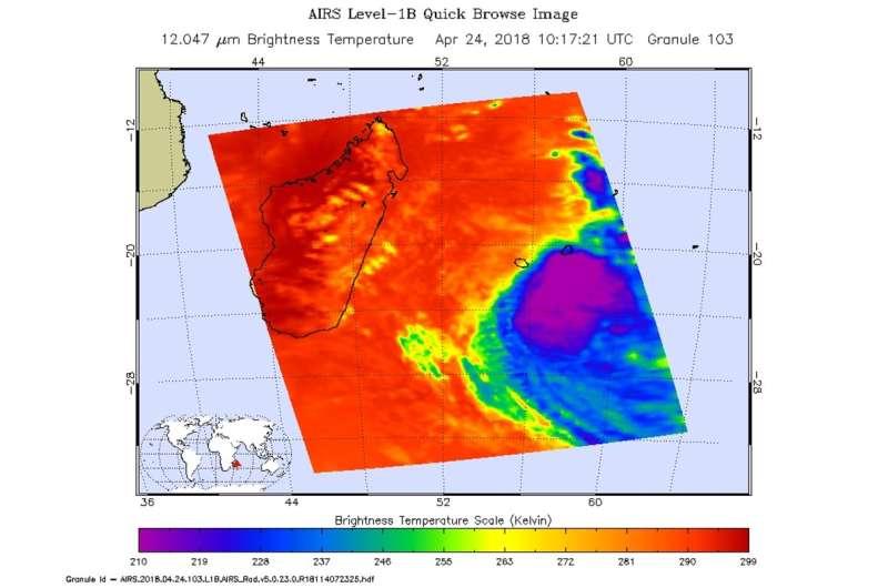 NASA finds Tropical Cyclone Fakir weakening