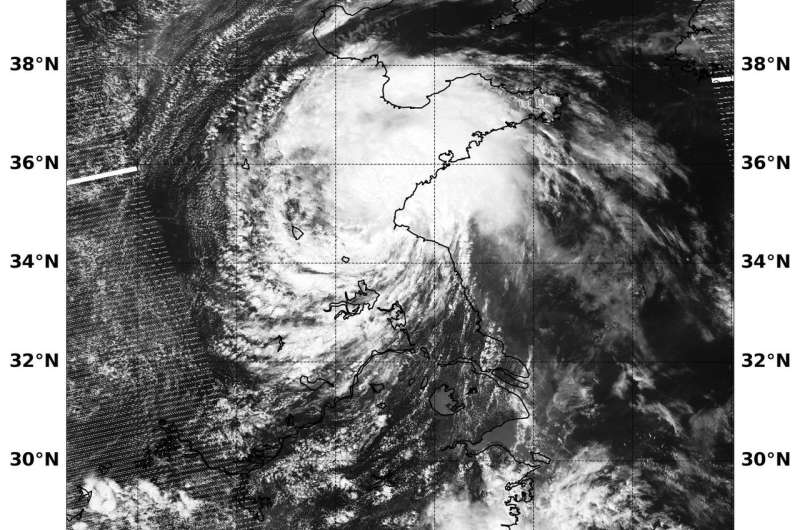 NASA-NOAA's Suomi NPP satellite catches Tropical Depression Ampil over Eastern China