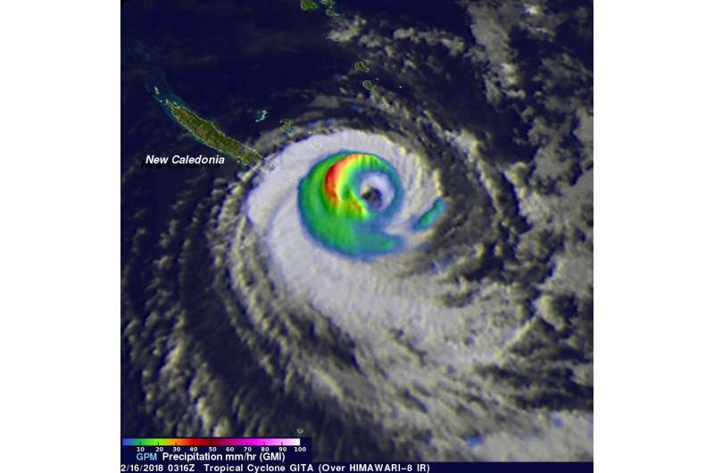 NASA sees Tropical Cyclone Gita weakening