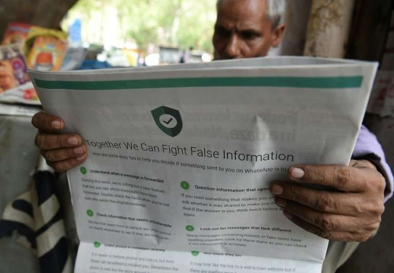 Communications app WhatsApp was forced to take out full-page adverts following a string of lynchings in India sparked by the sha