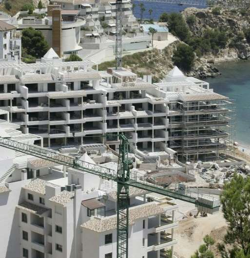 Construction work in Altea on Spain's Costa del Sol, pictured July 29, 2007