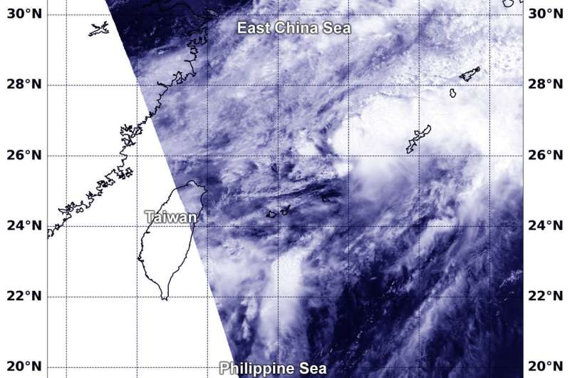 NASA finds Tropical Storm 07W near Kadena Air Base, Okinawa