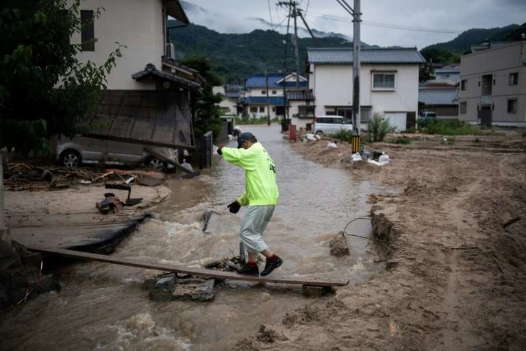 About 70 percent of Japan's land is made up of mountains and hills, so homes are often built on steep slopes, or flood-prone fla
