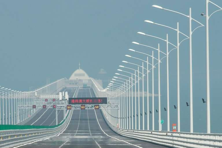 A bridge to somewhere: The project linking Hong Kong, Macau and mainland china is 55 kilometres long and contains enough steel t
