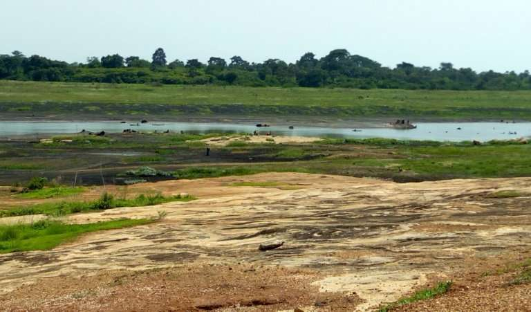 A general view of the Agoua-Yaokro dam managed by Ivory Coast's state water firm Sodeci near Bouake