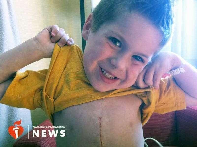 AHA: 12-year-old heart defect survivor inspires NFL player's foundation