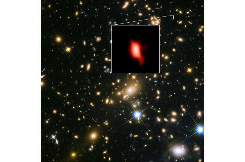 ALMA and VLT find evidence for stars forming just 250 million years after Big Bang