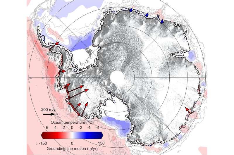 Antarctica retreating across the sea floor