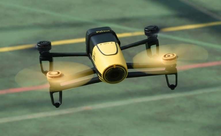 """A Parrot """"Bebop"""" quadcopter drone"""