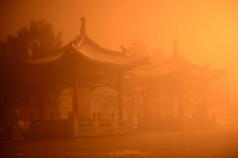 A polluted day in Hohhot, north China's Inner Mongolia region in 2015